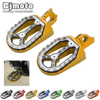 BJMOTO Motorcycle RM 250 RMZ 450 Foot Rests Footrests CNC Motorbike Foot Pegs Rests Footpegs For SUZUKI RM250 RMZ450 2010 2015
