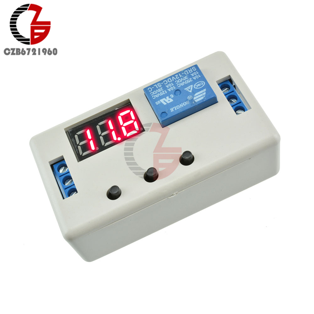Hot Sale Dc 12v 24v Led Digital Time Delay Relay Module Programmable Tachometer Circuit Using 555 Timer Control Switch Timing Trigger Cycle With Case For Indoor