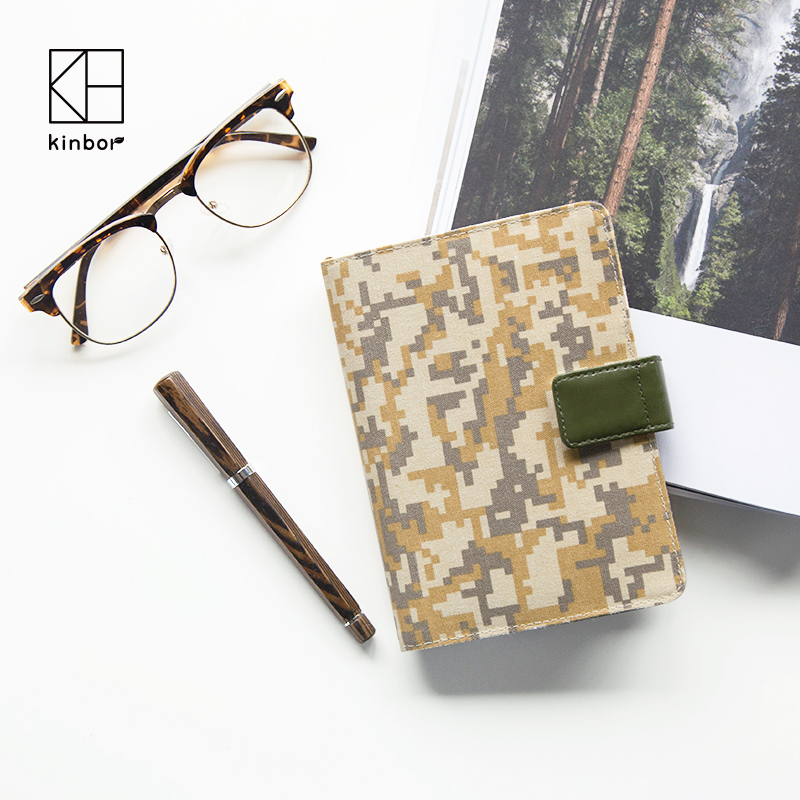 kinbor 2017 Planner Canvas A6 Boyfriend CAMOUFLAGE Notebook Agendas Diary  with Calender Daily Plan  Book Travel's Notebook Gift kinbor 4 colors cute planner notebook 365 days personal daily plan book project agendas 2017 kawaii gift korean stationery