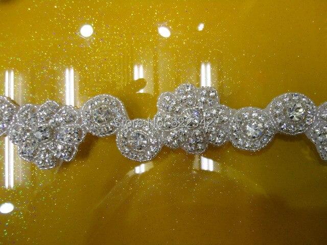 Free shipping new flower crystal rhinestone beaded appliques motif
