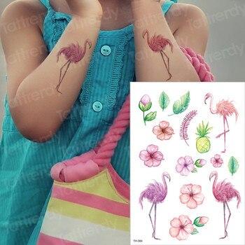 kids tattoo temporary waterproof tattoos children stickers body art horse unicorn animals tatoo water color face hand tattoo kid 3