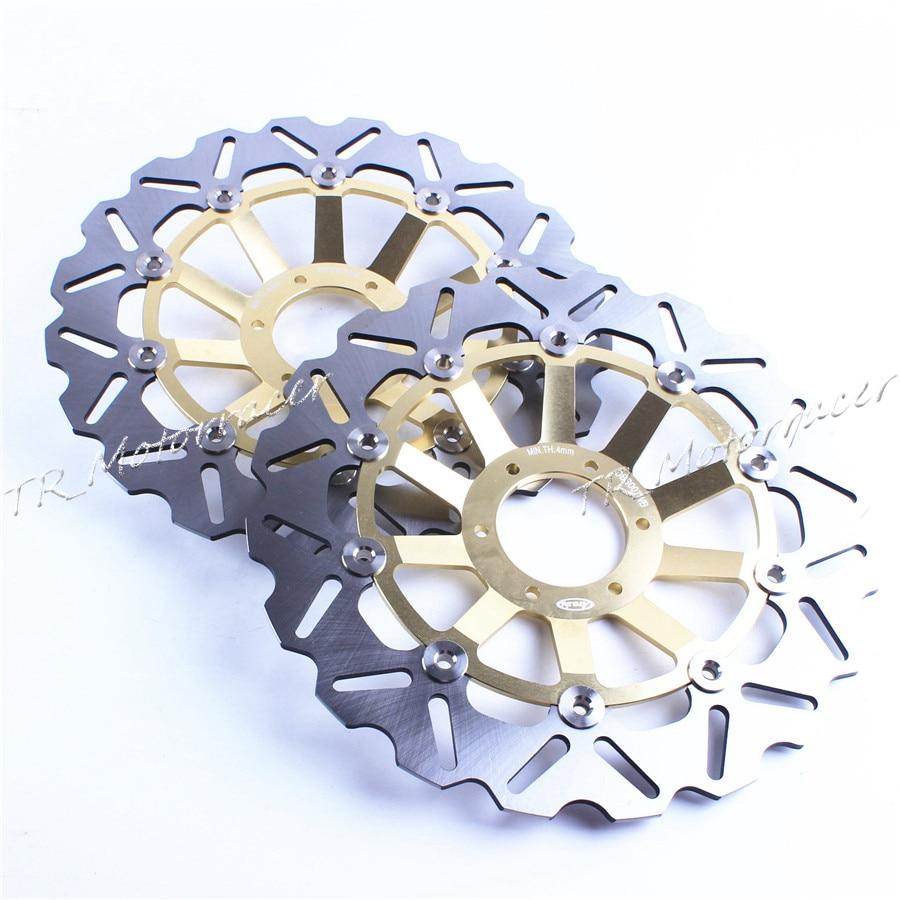 все цены на Front Brake Disc Rotor For Honda CB600 CB 600 Hornet CB400 SF/SB CB400 SF / Superour (NC31) Gold онлайн