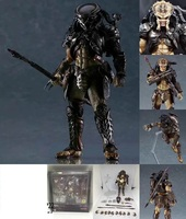 Predator AVP Ganso Lone wolf Joint move doll movie Person Model Decoration figure Toys gift computer table decorate