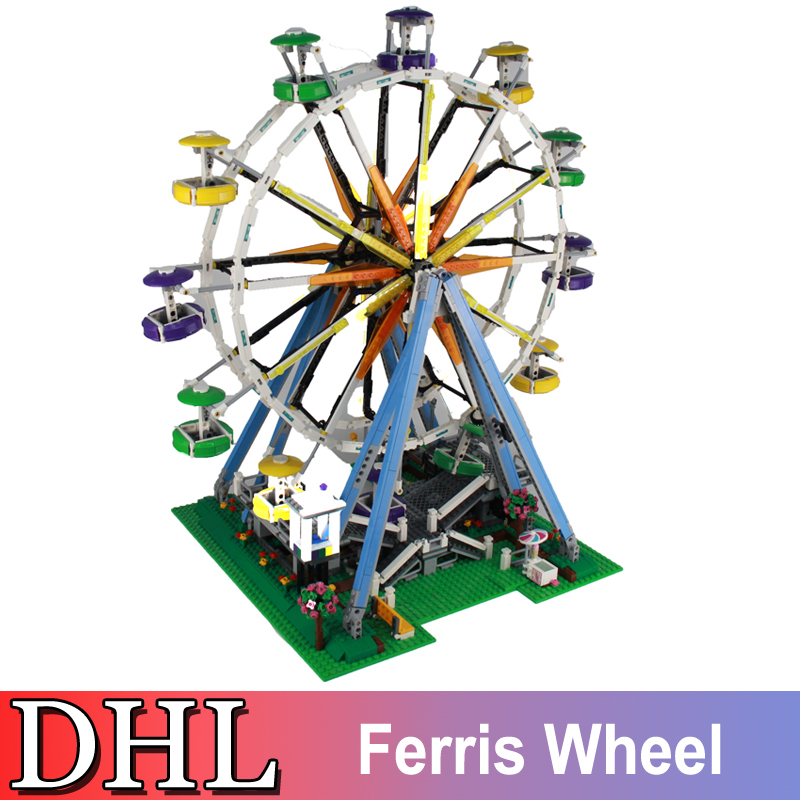 2478Pcs City Creator Street Figures Expert Ferris Wheel Building Model Blocks Bricks Set Kids Toys For Children Compatible 10247 lepin 15012 2478pcs city series expert ferris wheel model building kits blocks bricks lepins toy gift clone 10247