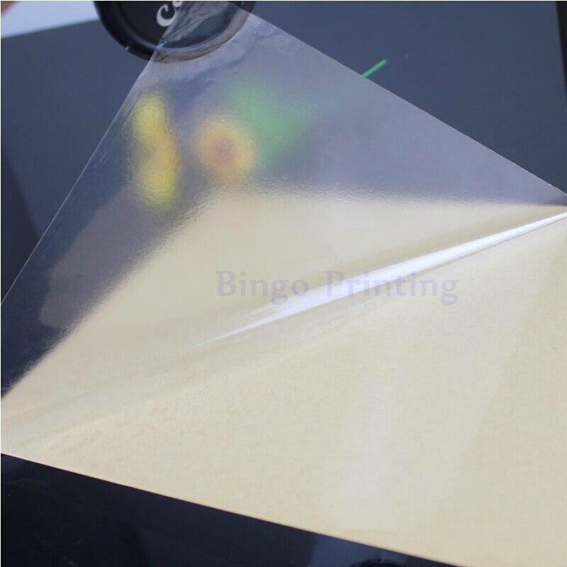 100 листов A4 ПВХ наклейка, Виниловая наклейка, прозрачная наклейка для лазерного принтера, ламинирующая пленка, сильный клей