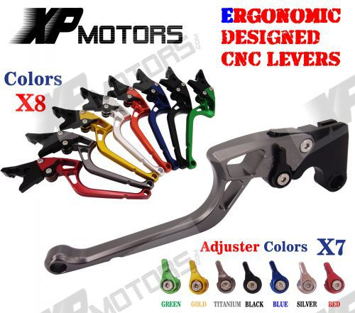 ФОТО Ergonomic Designed New CNC Adjustable Right-angled 170mm Brake Clutch Levers For Buell 1125CR 2009