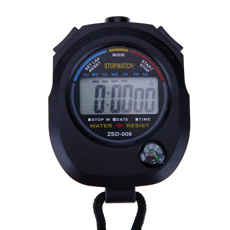Waterproof Digital LCD Stopwatch Chronograph Timer Counter ...