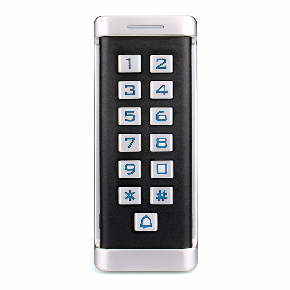 RFID IP68 Metal Keypad Door Access Control Single Door Standalone Access Control System Wiegand 26 bit I/O With 2000 User F1419D rfid standalone metal access control security keypad for door locks system