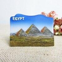 Egypt Khufu Pyramid Tourist Souvenirs Fridge Magnets Handmade Resin 3D Refrigerator Magnetic Stickers Home Decor Decoration