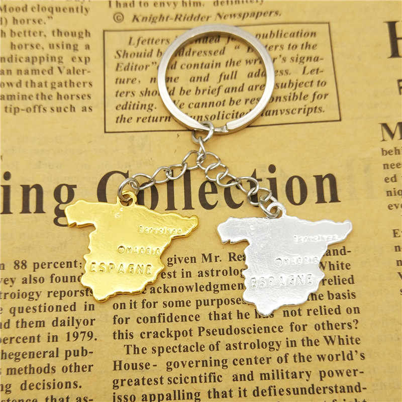 Detail Feedback Questions about Dropship trendy Spain map keychains