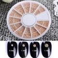 1 Caixa de 0.8/1/1.2/1.5mm Mista Beads Prego 3D Decoração Fashion Manicure Da Arte Do Prego de Aço decoração
