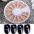 1 Caja de 0.8/1/1.2/1.5mm Mixta Granos de Acero 3D Decoración de Uñas de Manicura de Uñas de Moda Arte decoración