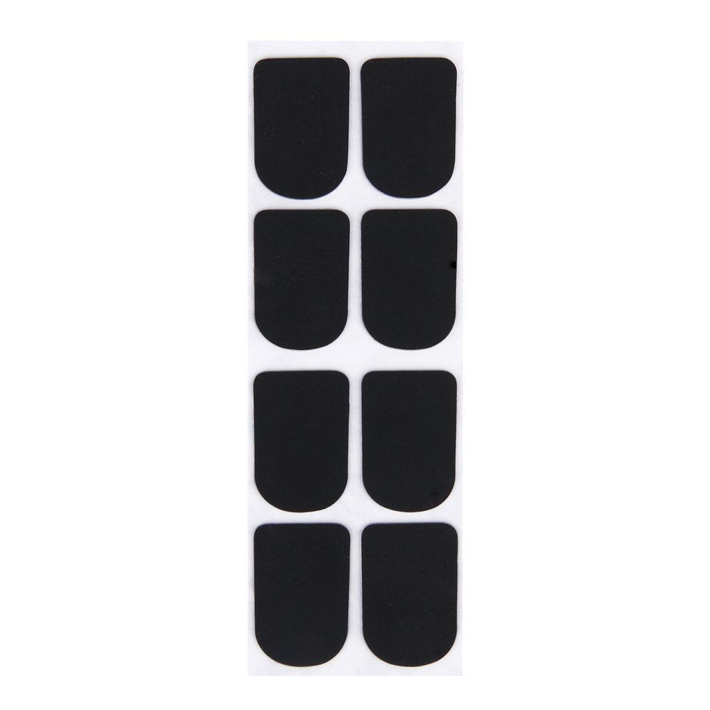 Clarinet/Soprano Saxophone Sax Mouthpiece Patches Pads Cushions Black---0.8mm