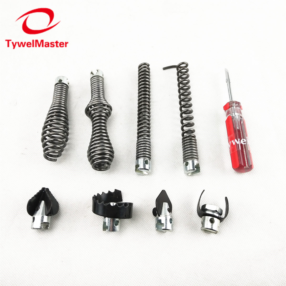 Tools : Sewer Snake Machine Accessories Soft Shaft 16mm 8pcs PK Straight Bulb Restrieving Auger Blade Grease Sawtooth Cutter Pipe Clean