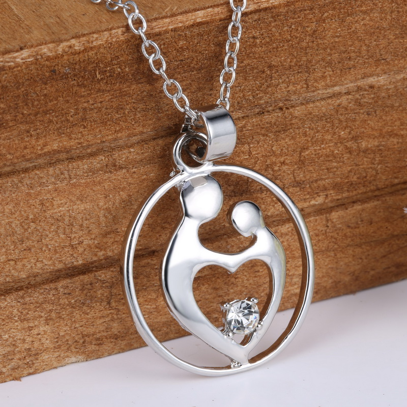 Mother Son Baby Daughter Pendant Necklaces New Mother's