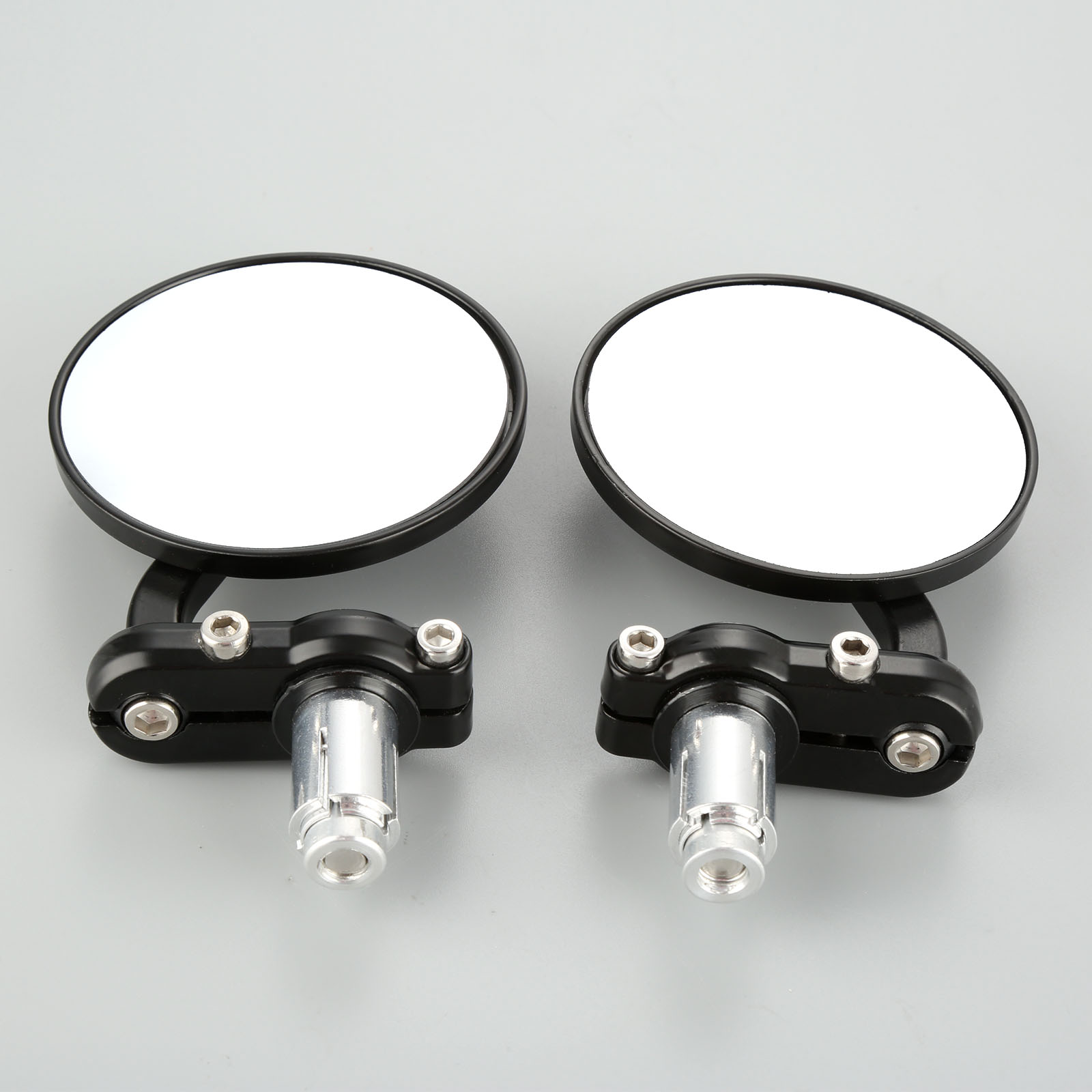 "2Pcs 3inch Round 7/8"" Handle Bar End Mirrors Cafe Racer Bobber Clubman For Honda Suzuki Yamaha Cafe Racer Bobber-in Side Mirrors & Accessories from Automobiles & Motorcycles"