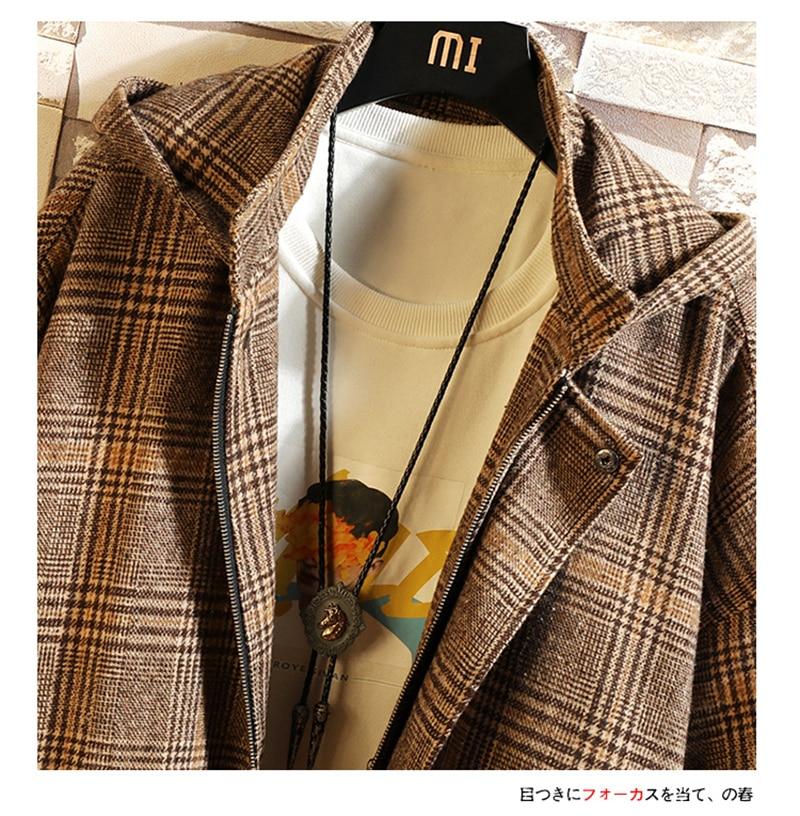 Male Long Coat Oversize Lapel Button Sobretodos Hombre Overcoat Streetwear (44)