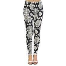 New leggins mujer Black and white Snake Skin Printing legging sexy leggins fitness Woman Flexible Pants workout leggings