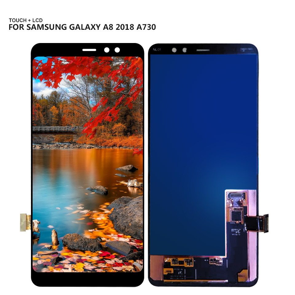 AMOLED LCD For Samsung Galaxy <font><b>A8</b></font> + <font><b>A8</b></font> Plus <font><b>2018</b></font> A730x A730 LCD <font><b>Display</b></font> Touch Screen Digitizer Assembly + Tools image