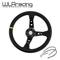 WLR STORE 14 350MM OMP Steering Wheel PVC Leather Steering Wheel 14 Inch OMP Steering Wheel