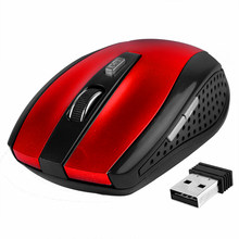 For PC Laptop Wireless Mouse Optical Gaming Mouse Portable 2.4GHz Mouse with USB Nano Dongle Office Gamer Computer Desktop Mice(China)