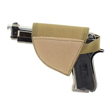 New selling Adjustable Tactical Velcro Hook Pistol green Holster Right Hand Hook Loop Gun Holster