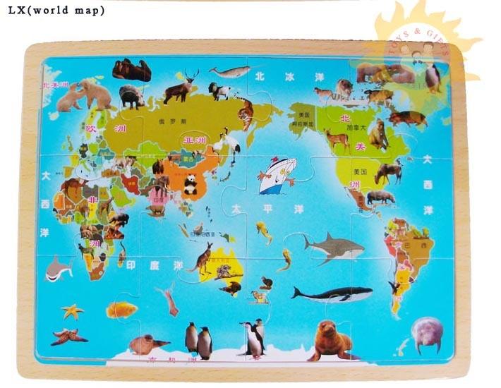 Preschool World Map.Wooden Toys Jigsaw Puzzle World Map Educational Toys Preschool