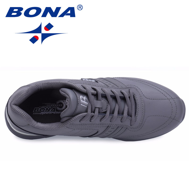 BONA New Popular Style Men Casual Shoes Lace Up Comfortable Shoes Men Soft Lightweight Outsole Hombre  Free  Shipping 4