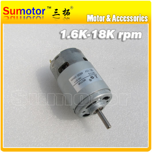 ФОТО R775 4600rpm DC 12V 27W 3A High speed Glass Cutter Electric motor Long output shaft, for Ship model Toys Children car Rabbler