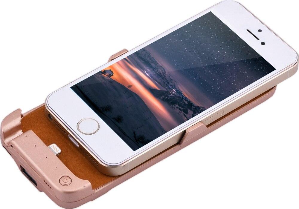 Caso del cargador de batería externa 4200 mah de copia de seguridad para iphone