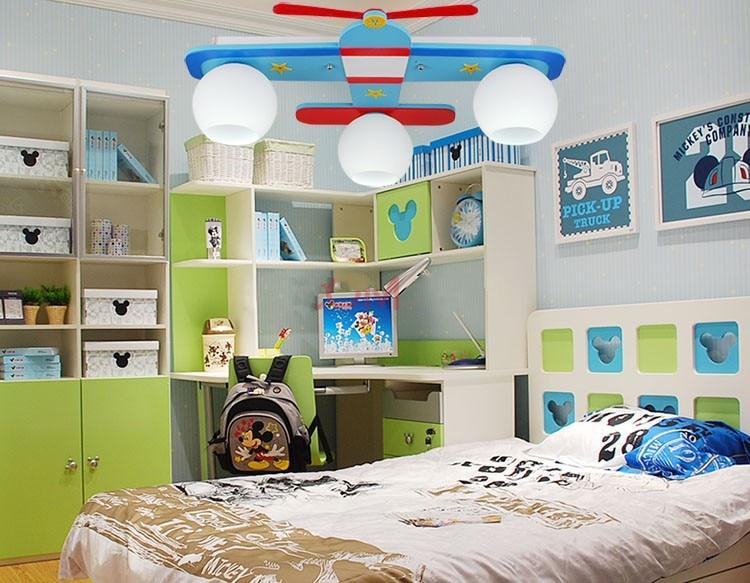 Vliegtuig model kinderen slaapkamer plafondverlichting jongen