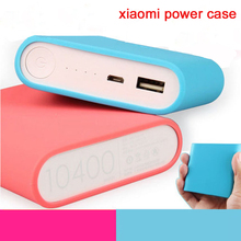 Hot  power bank silicone case cover for 16000 10400 10000 20000mAh powerbank external battery Protector case  6 Color for xiaomi