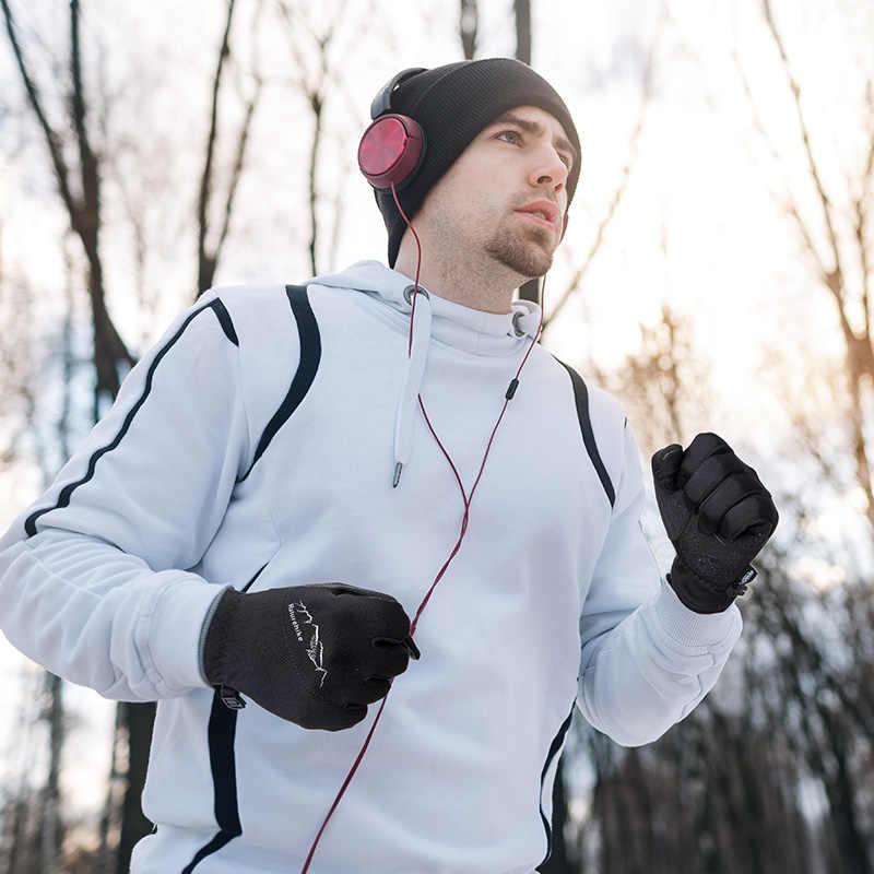 Naturehike hombres mujeres ligero clima frío resistente al viento impermeable invierno deportes correr guantes pantalla táctil esquí senderismo guantes