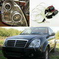 For Ssangyong Rexton 2006 2007 2008 2009 2010 2011 2012 Excellent CCFL Angel Eyes kit Ultra bright headlight illumination