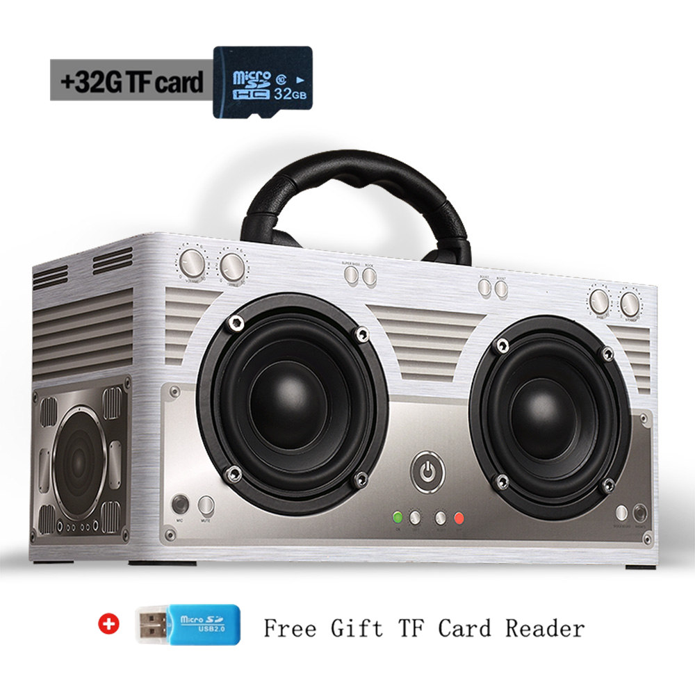 Bluetooth Speaker Portable Super Bass Sound Card Reader FM Radio Capability
