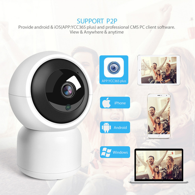 HD 1080P WIFI IP Camera 1.0MP 2MP Baby Monitor Auto Tracking Home Security WI-FI Cam PTZ Two Way Audio Surveillance CCTV Camera 1