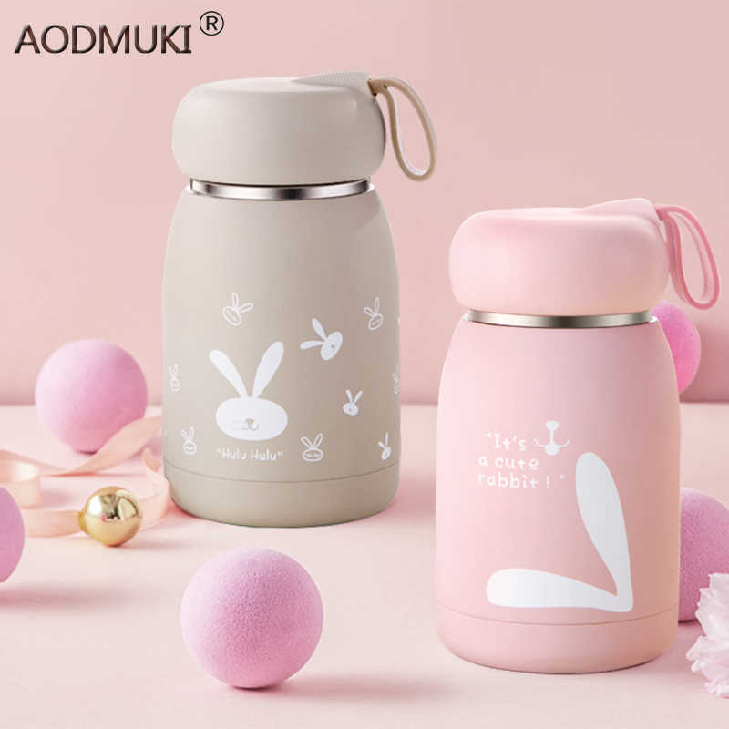 360ML Thermo Cup Stainless Steel Vacuum Flasks Cartoon Bottle Belly MugThermal Bottle For Water Insulated Tumbler For Animal Cup