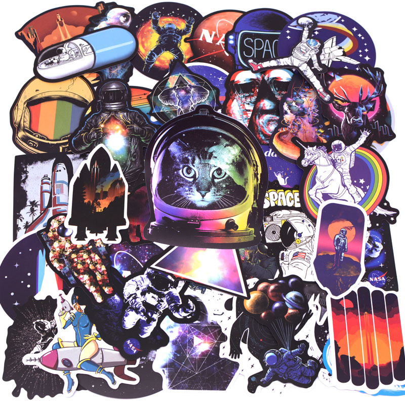 100pcs Pretty Galaxy Universe Astronaut Stickers for Luggage Laptop Decal Skateboard Stickers Bicycle Car Guitar Fridge Sticker100pcs Pretty Galaxy Universe Astronaut Stickers for Luggage Laptop Decal Skateboard Stickers Bicycle Car Guitar Fridge Sticker