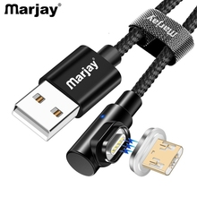 Marjay 1m 2m Micro USB Magnetic Cable Fast Charging Adapter Phone Cables Microusb Android Data Charger For Xiaomi redmi Tablet