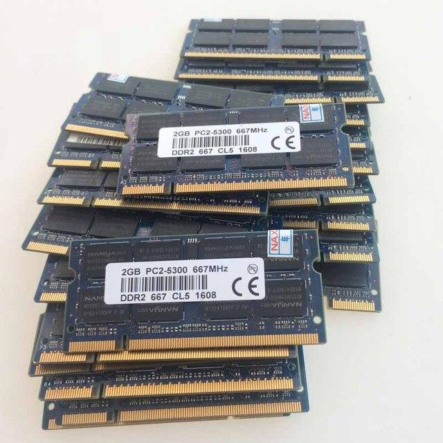 50x2 ГБ CL5.0 DDR2-667 667 МГц PC2-5300S DDR2 Памяти Ноутбука SODIMM 200pin ОПЕРАТИВНОЙ ПАМЯТИ Non-Ecc 2RX8 Notebook низкая плотность