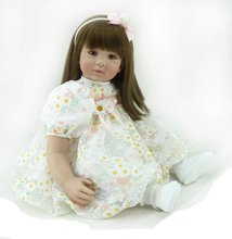 22 inch 55 cm Silicone baby reborn dolls, lifelike doll reborn babies toys for girl princess gift  Children's toys Pretty girl