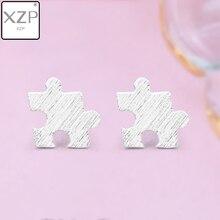 XZP Fashion Game Puzzle Stud Earrings for Girls Kids Geometric Jewelry Earings Stainless Steel Toys Earring Oorbellen