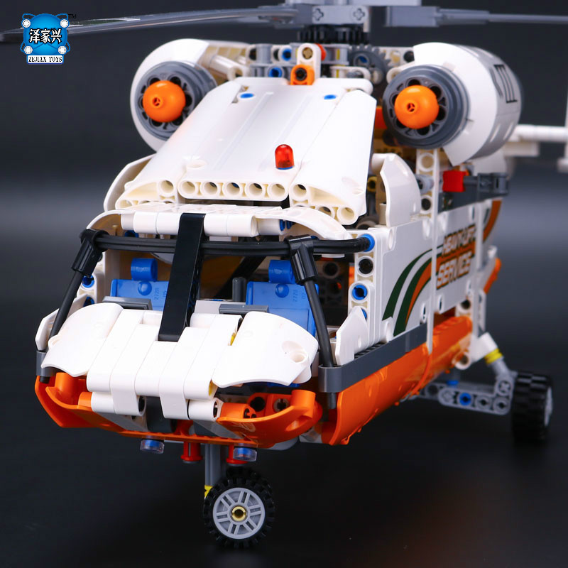 Technology Series Mechanical Group High Load Helicopter Blocks Funny Gifts Compatible with Lepins Boy Assembling figures Toys city series helicopter surveillance building blocks policeman models toys children boy gifts compatible with legoeinglys 26017