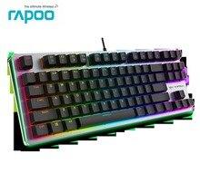 Проводной оригинал Rapoo V500 RGB подсветкой USB Эргономичный Механическая игровая клавиатура геймер подсветкой черный/синий/коричневый переключатель Новый