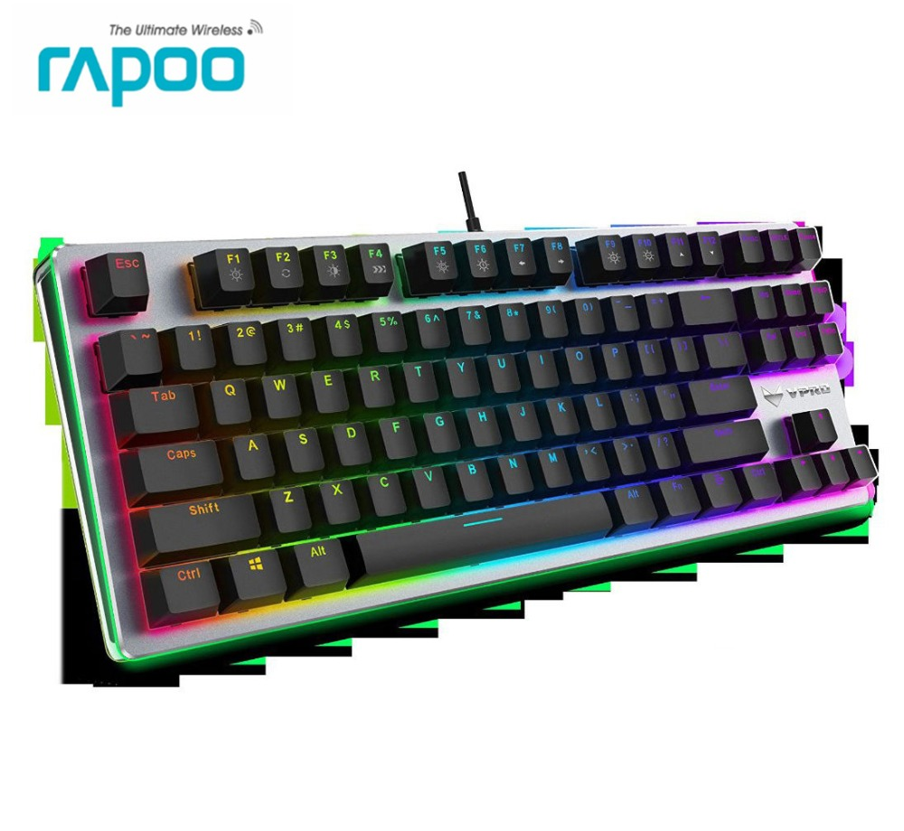 Wired Original Rapoo V500 RGB LED Backlit Usb Ergonomic Mech