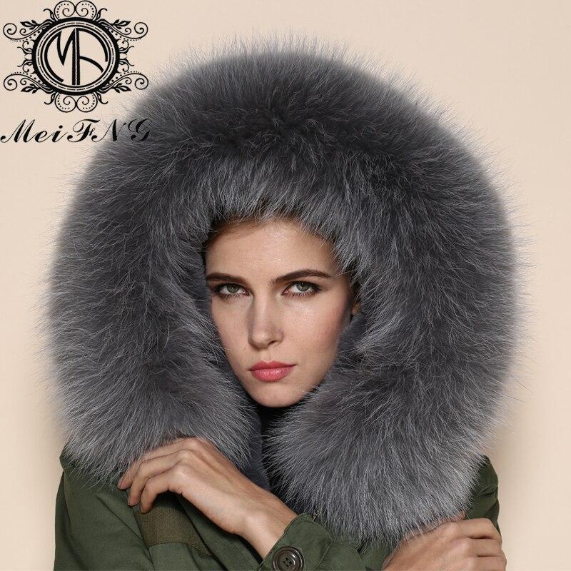 В итальянском стиле серый воротник и подкладка из ткани с капюшоном из натурального меха енота, со съемным воротником, женские теплые боты с меховой Куртки