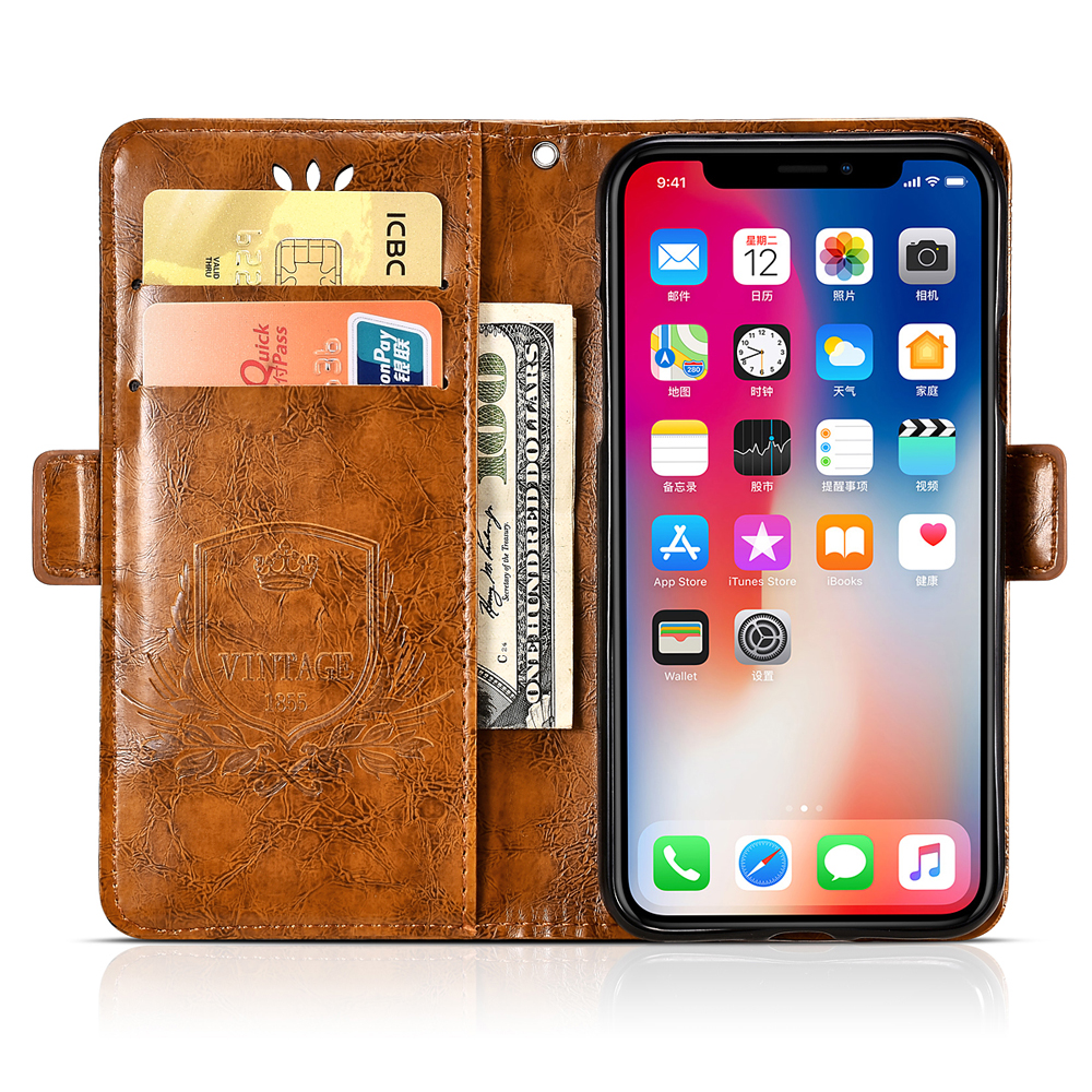Image 3 - For BQ Aquaris U Lite Case Vintage Flower PU Leather Wallet Flip Cover Coque Case For BQ Aquaris U Lite Phone Case Fundas-in Wallet Cases from Cellphones & Telecommunications
