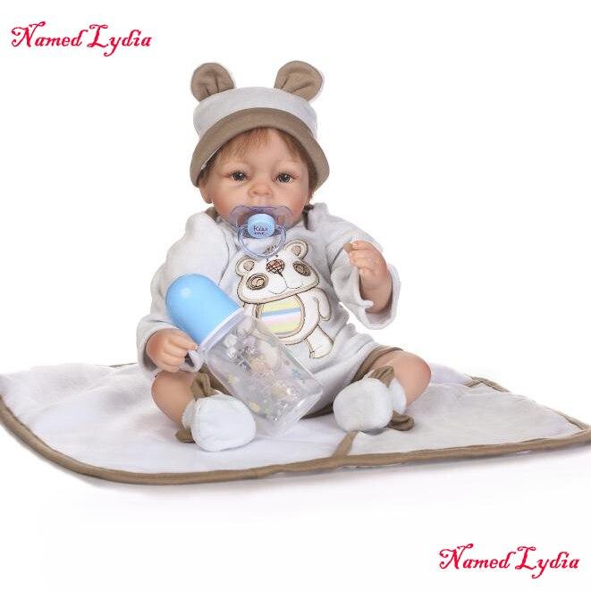 18 pouces 40 cm reborn bébés garçon poupées doux au toucher sommeil silicone reborn bébé poupées enfants cadeau d'anniversaire bebe jouets poupées boneca