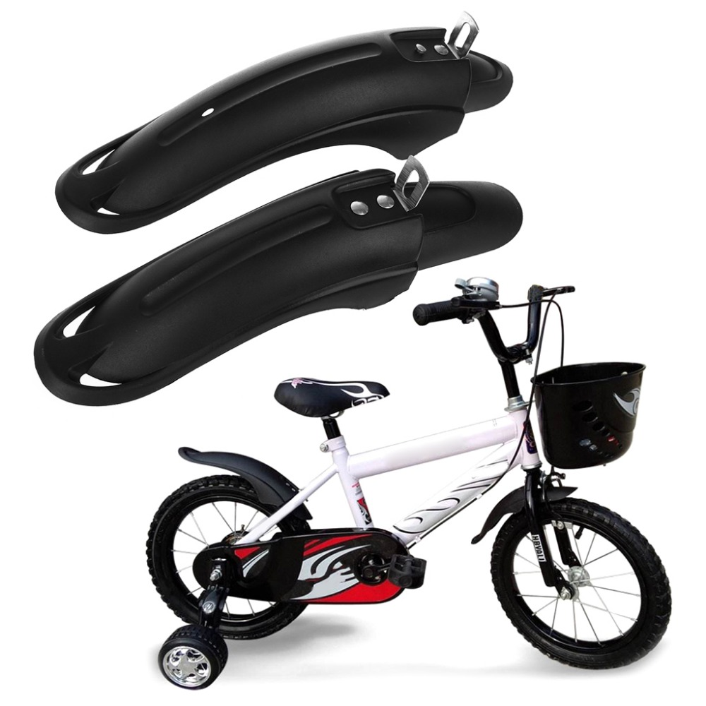 1 Pair Bicycle Fender Mudguard Front Rear Dustproof For 1214inch Children Bike
