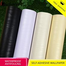 цена на Vinyl Decorative Film Wood Grain Contact Papers Self adhesive Wallpaper for Kitchen Cabinets Furniture Waterproof Wall Stickers